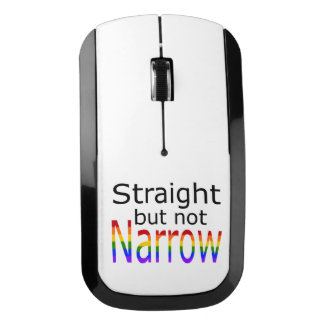 Falln Straight But Not Narrow (black text) Wireless Mouse
