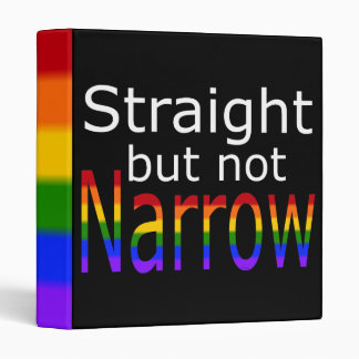 Falln Straight But Not Narrow (white text) 3 Ring Binder