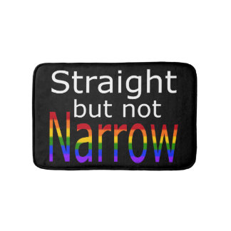 Falln Straight But Not Narrow (white text) Bathroom Mat