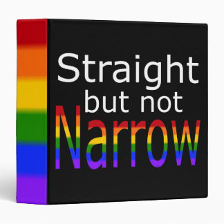 Falln Straight But Not Narrow (white text) Binder