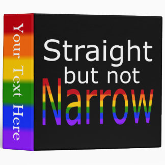 Falln Straight But Not Narrow (white text) Binder