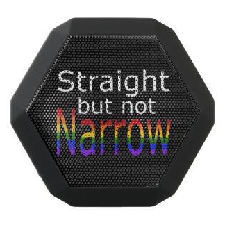 Falln Straight But Not Narrow (white text) Black Bluetooth Speaker