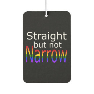 Falln Straight But Not Narrow (white text) Car Air Freshener