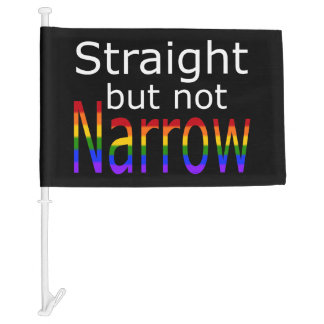 Falln Straight But Not Narrow (white text) Car Flag