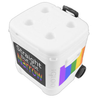 Falln Straight But Not Narrow (white text) Cooler