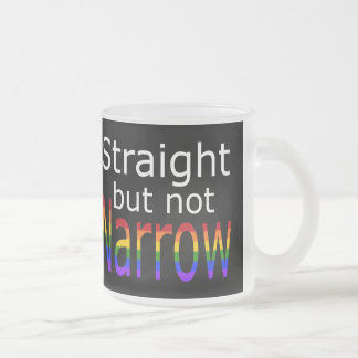 Falln Straight But Not Narrow (white text) Frosted Glass Coffee Mug