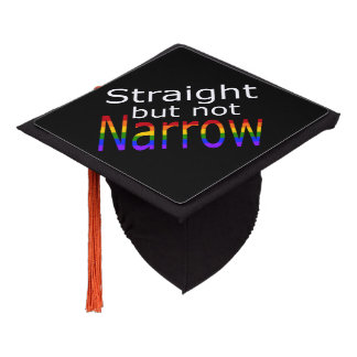 Falln Straight But Not Narrow (white text) Graduation Cap Topper