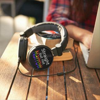 Falln Straight But Not Narrow (white text) Headphones