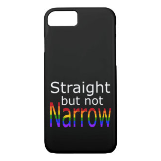 Falln Straight But Not Narrow (white text) iPhone 7 Case