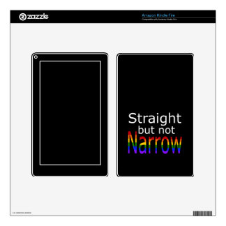 Falln Straight But Not Narrow (white text) Kindle Fire Skin