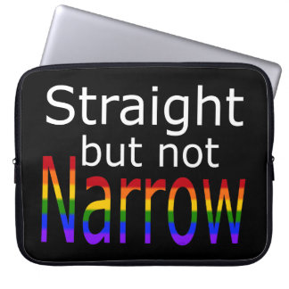 Falln Straight But Not Narrow (white text) Laptop Sleeves