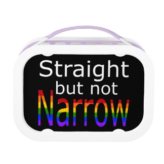 Falln Straight But Not Narrow (white text) Lunch Box