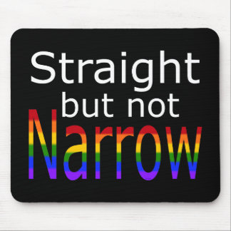 Falln Straight But Not Narrow (white text) Mouse Pad