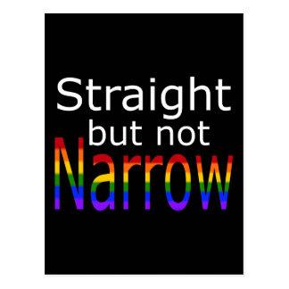 Falln Straight But Not Narrow (white text) Postcard