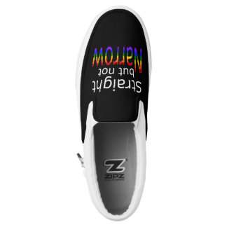 Falln Straight But Not Narrow (white text) Slip-On Sneakers