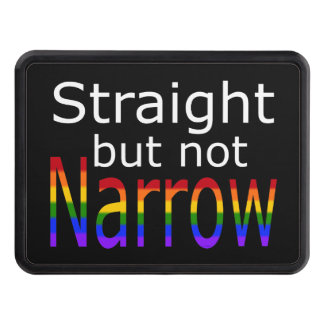 Falln Straight But Not Narrow (white text) Tow Hitch Cover