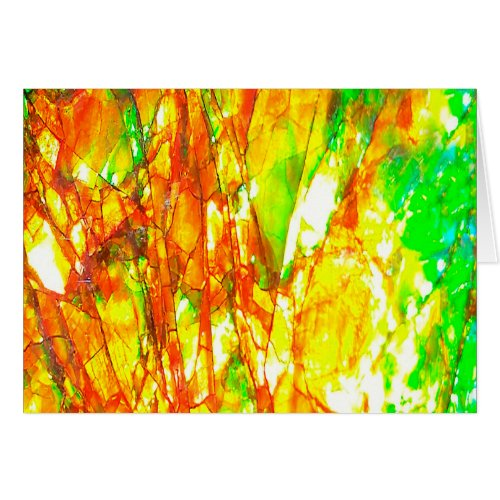 Falln Sunset Ammolite Card