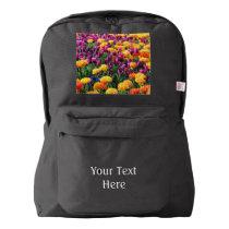 Falln Sunset Floral River American Apparel™ Backpack