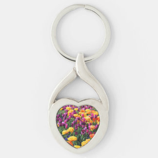Falln Sunset Floral River Keychain