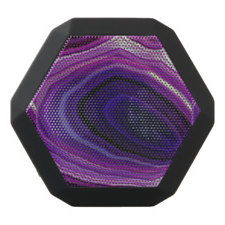 Falln Swirled Purple Geode Black Bluetooth Speaker