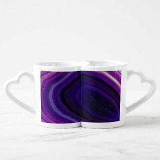 Falln Swirled Purple Geode Coffee Mug Set