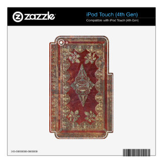 Falln Tarnished Brass Book Decal For iPod Touch 4G
