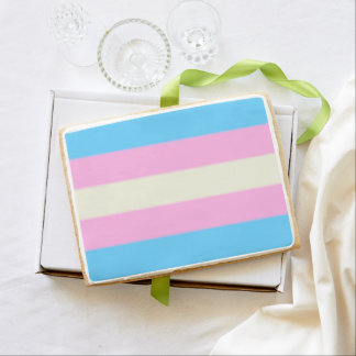 Falln Transgender Pride Flag Jumbo Shortbread Cookie