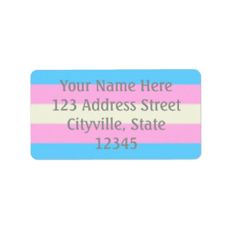 Falln Transgender Pride Flag Label