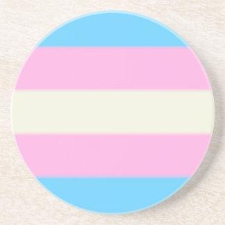 Falln Transgender Pride Flag Sandstone Coaster