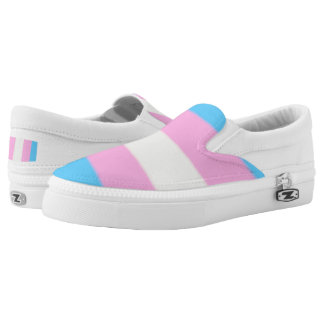 Falln Transgender Pride Flag Slip-On Sneakers