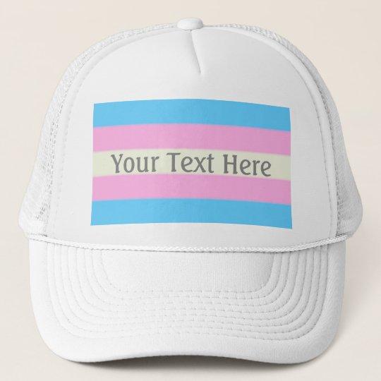 34cd89341e8 Falln Transgender Pride Flag Trucker Hat