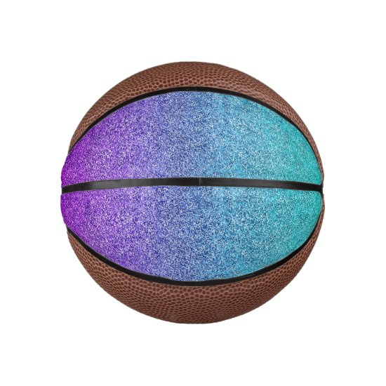 Falln Tropical Dusk Glitter Gradient Basketball
