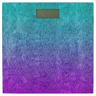 Falln Tropical Dusk Glitter Gradient Bathroom Scale