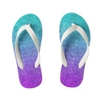 Falln Tropical Dusk Glitter Gradient Kid's Flip Flops