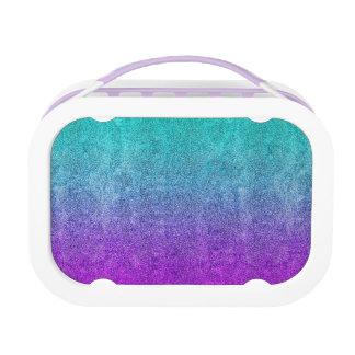 Falln Tropical Dusk Glitter Gradient Lunch Box