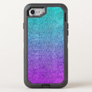 Falln Tropical Dusk Glitter Gradient OtterBox Defender iPhone 8/7 Case