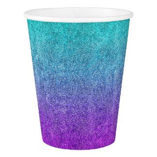 Falln Tropical Dusk Glitter Gradient Paper Cup