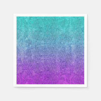 Falln Tropical Dusk Glitter Gradient Paper Napkin