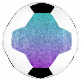 Falln Tropical Dusk Glitter Gradient Soccer Ball