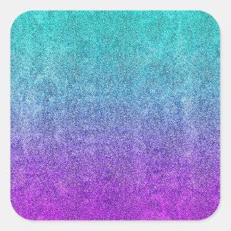 Falln Tropical Dusk Glitter Gradient Square Sticker