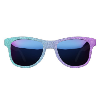 Falln Tropical Dusk Glitter Gradient Sunglasses
