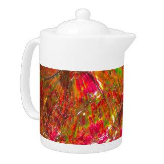 Falln Tropical Sunset Ammolite Teapot