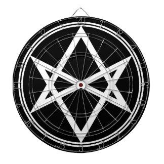 Falln Unicursal Hexagram White Dart Board