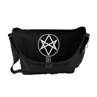 Falln Unicursal Hexagram White Messenger Bag