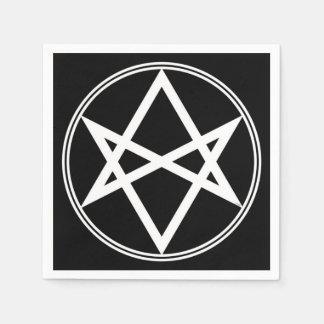 Falln Unicursal Hexagram White Paper Napkin