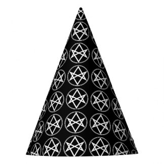 Falln Unicursal Hexagram White Party Hat