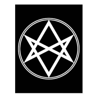 Falln Unicursal Hexagram White Postcard