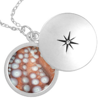 Falln Up Close Octopus Silver Plated Necklace