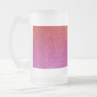 Falln Valentine Glitter Gradient Frosted Glass Beer Mug