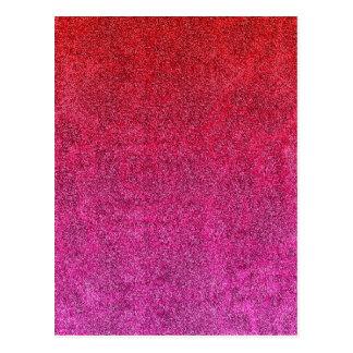 Falln Valentine Glitter Gradient Postcard